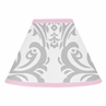Pink, Gray and White Elizabeth Lamp Shade by Sweet Jojo Designs