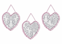 Pink, Gray and White Elizabeth Wall Hanging Accessories by Sweet Jojo Designs
