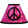 Pink Groovy Peace Sign Tie Dye Lamp Shade by Sweet Jojo Designs