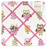 Pink Happy Owl Fabric Memory/Memo Photo Bulletin Board by Sweet Jojo Designs