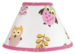Pink Happy Owl Lamp Shade by Sweet Jojo Designs
