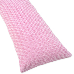 Pink Minky Madison Full Length Double Zippered Body Pillow Case Cover
