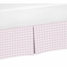 Pink Plaid Crib Bed Skirt for Pretty Pony Baby Bedding Sets by Sweet Jojo Designs