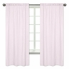 Pink Plaid Window Treatment Panels for Pretty Pony Collection by Sweet Jojo Designs - Set of 2