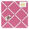 Pink Tonal Hatch Print Fabric Memory/Memo Photo Bulletin Board for Happy Owl Collection