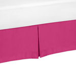 Pink King Bed Skirt for Hot Pink and White Chevron Bedding Sets by Sweet Jojo Designs