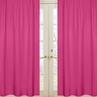 Pink Window Treatment Panels for Pink and White Chevron Collection - Set of 2