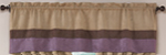 Plum - Jacaranda Collection - Microsuede Valance Window Treatment