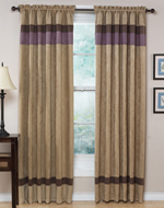 Plum - Jacaranda Collection Microsuede Window Treatments - Set of 2