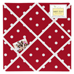Polka Dot Fabric Memory/Memo Photo Bulletin Board For Ladybug Collection by Sweet Jojo Designs