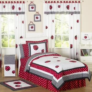 JoJo Designs Polka Dot Ladybug Childrens Bedding - 3 pc F...