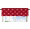 Polka Dot Window Valance for Red and White Ladybug Collection by Sweet Jojo Designs