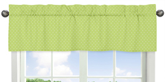 Polka Dot Window Valance for Turquoise and Lime Hooty Owl Collection by Sweet Jojo Designs