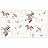 Pretty Pony Baby and Childrens Horse Wall Decal Stickers - Set of 4 Sheets