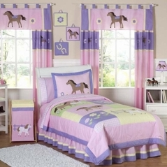 Pretty Pony Horse Children's Bedding - 3 pc Full / Queen Set