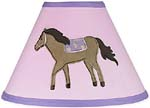 Pretty Pony Horse Lamp Shade by Sweet Jojo Designs