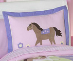 Pretty Pony Horse Pillow Sham