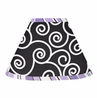 Purple and Black Kaylee Lamp Shade by Sweet Jojo Designs