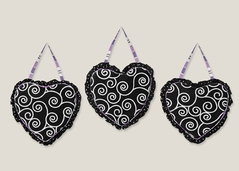 Purple and Black Kaylee Wall Hanging Accessories by Sweet Jojo Designs