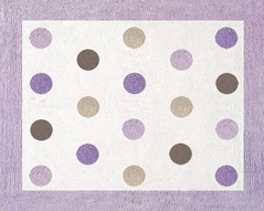 Purple and Brown Mod Dots Accent Floor Rug