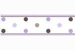Purple and Brown Mod Dots Baby and Childrens Polka Dot Wall Border by Sweet Jojo Designs