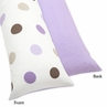 Purple and Brown Mod Dots Full Length Double Zippered Body Pillow Case Cover by Sweet Jojo Designs