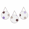 Purple and Brown Modern Polka Dots Wall Hanging Accessories by Sweet Jojo Designs