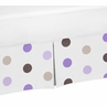 Purple and Brown Polka Dot Crib Bed Skirt for Mod Dots Baby Bedding Sets by Sweet Jojo Designs
