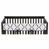 Purple, Black and White Princess Baby Crib Long Rail Guard Cover by Sweet Jojo Designs