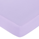 Purple, Black and White Princess Fitted Crib Sheet for Baby/Toddler Bedding - Light Purple