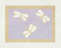 Purple Dragonfly Dreams Accent Floor Rug