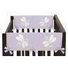 Purple Dragonfly Dreams Baby Crib Side Rail Guard Covers by Sweet Jojo Designs - Set of 2