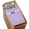 Purple Funky Zebra Changing Pad Cover by Sweet Jojo Designs