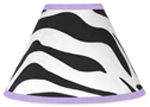 Purple Funky Zebra Lamp Shade by Sweet Jojo Designs