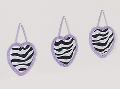 Purple Funky Zebra Wall Hanging Accessories by Sweet Jojo Designs
