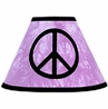 Purple Groovy Peace Sign Tie Dye Lamp Shade by Sweet Jojo Designs