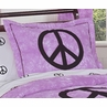Purple Groovy Peace Sign Tie Dye Pillow Sham