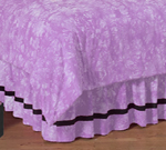 Purple Groovy Peace Sign Tie Dye Queen Kids Children's Bed Skirt by Sweet Jojo Designs