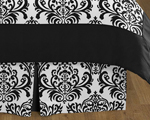 Queen Bed Skirt for Black and White Isabella Bedding Sets by Sweet Jojo Designs
