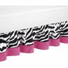 Queen Bed Skirt for Hot Pink & Zebra Print Bedding Set by Sweet Jojo Designs
