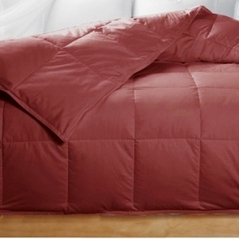 Queen Cranberry Brick Red Feather Down Comforter