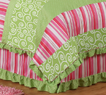 Queen Kids Childrens Bed Skirt for Olivia Bedding Sets by Sweet Jojo Designs