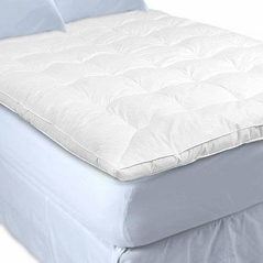 Queen White Goose Down Featherbed
