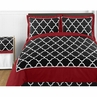 Red and Black Trellis 4pc Childrens and Kids Twin Bedding Set by Sweet Jojo Designs