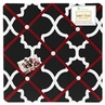 Red and Black Trellis Fabric Memory/Memo Photo Bulletin Board