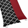 Red and Black Trellis Full Length Double Zippered Body Pillow Case Cover