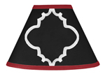 Red and Black Trellis Lamp Shade by Sweet Jojo Designs