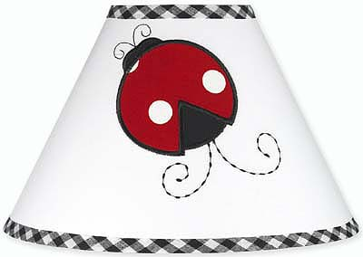 Red and White Ladybug Polka Dot Girls Childrens Lamp Shade by Sweet Jojo Designs - Click to enlarge