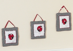 Red and White Ladybug Polka Dot Wall Hanging Accessories by Sweet Jojo Designs