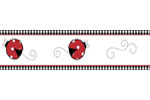 Red and White Polka Dot Little Ladybug Baby and Childrens Wall Border by Sweet Jojo Designs